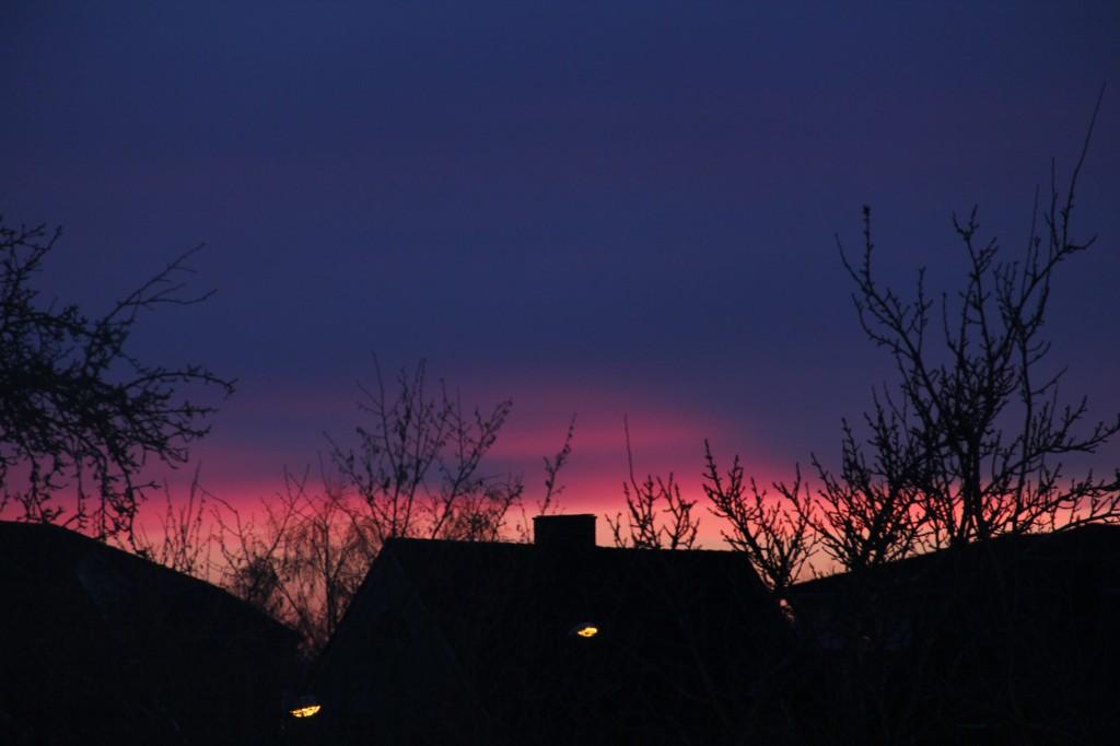 Solnedgång i Tomelilla 2
